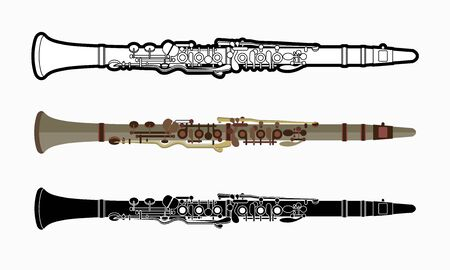 Clarinet instrument cartoon music graphic vector Ilustrace