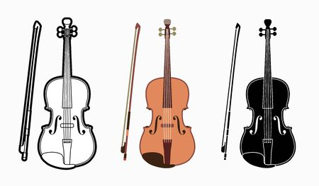 Violin instrument cartoon music graphic vector