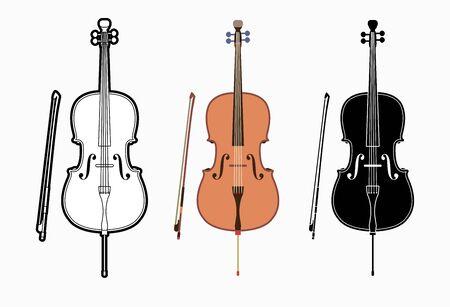 Cello instrument cartoon music graphic vector