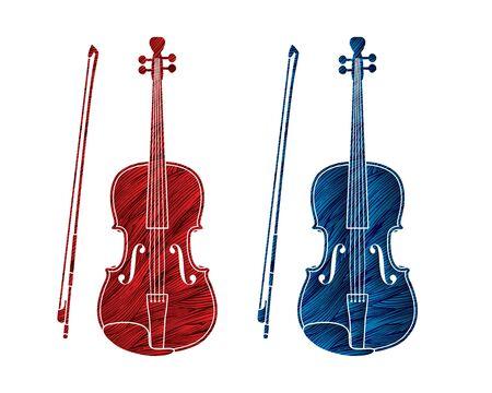 Violin instrument cartoon music graphic vector Reklamní fotografie - 148875090