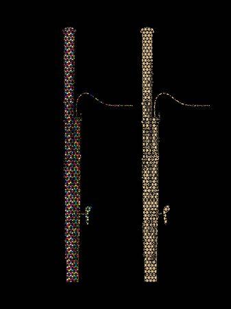 Bassoon instrument cartoon music graphic vector Vettoriali