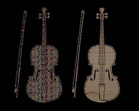 Violin instrument cartoon music graphic vector. Ilustrace