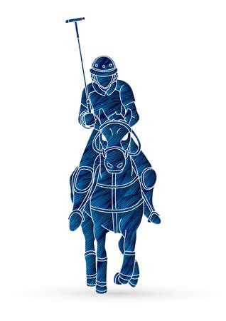 Polo Horse player sport cartoon graphic vector