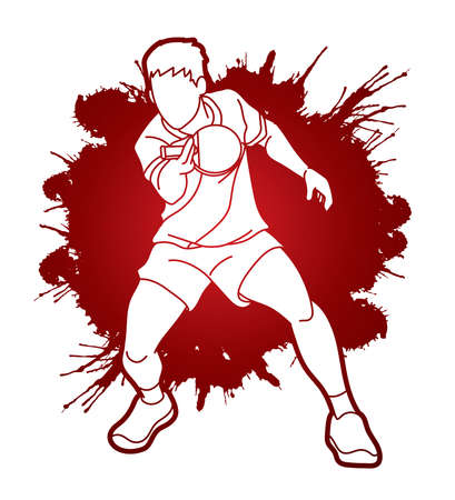 Table tennis action cartoon graphic vector Stock fotó - 162135311