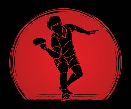 Table tennis action cartoon graphic vector Stock fotó - 162135170