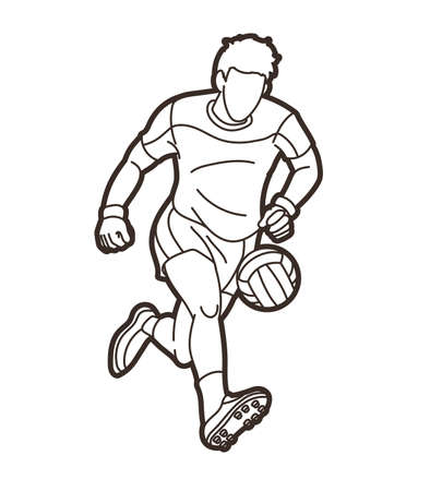 Gaelic Football Male Player Vector