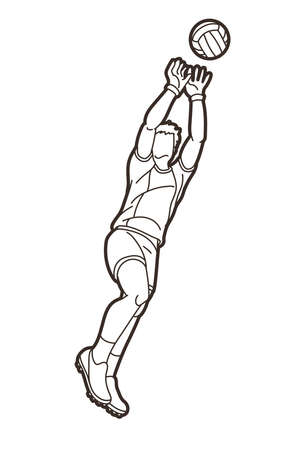 Gaelic Football Male Player Vector Vektorové ilustrace