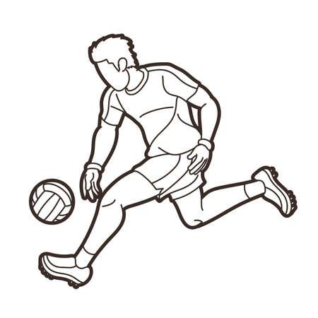 Gaelic Football Male Player Vector