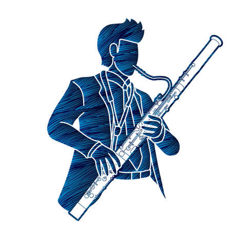Bassoon Musician Orchestra Instrument Graphic Vector