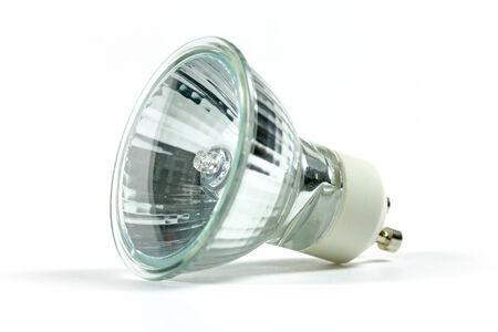 halogen light bulb isolated on white background