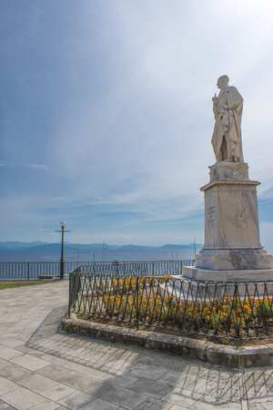Monument of Kapodistrias. Corfu island, Greece, September 24, 2017.