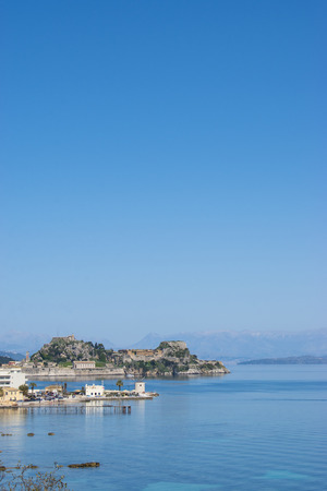 CORFU (KERKYRA) ISLAND, GREECE. Panoramic view of the old fort of Corfu