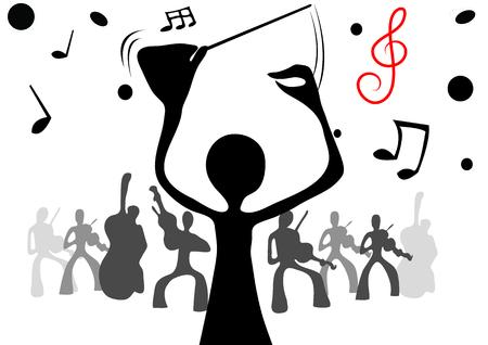 maestro: illustrated conductor & music shadow man