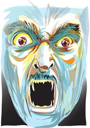 scaring: illuatrstion scaring ghost face Illustration