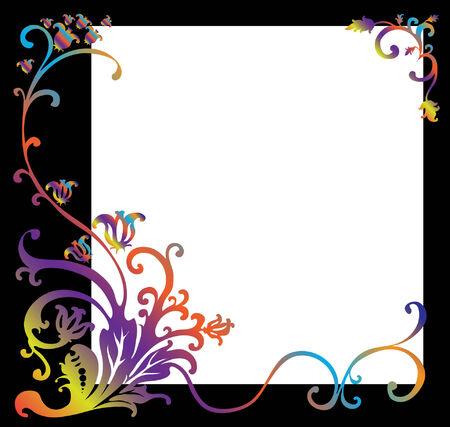 Illustration retro style frame or background