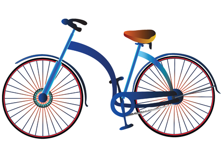 palanca de cambios: Bicicleta de estilo retro de ilustraci�n