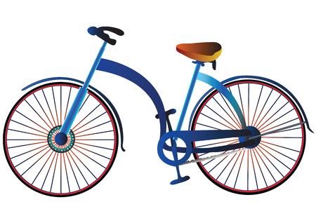 Illustratie retro stijl fiets
