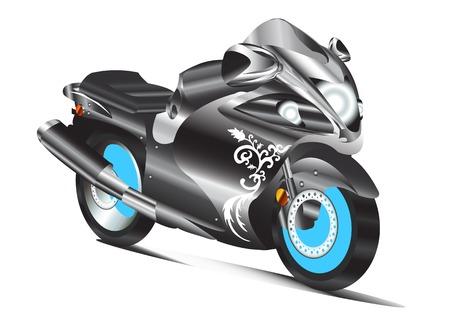 big bike extreme sport illustration model graphic design background white