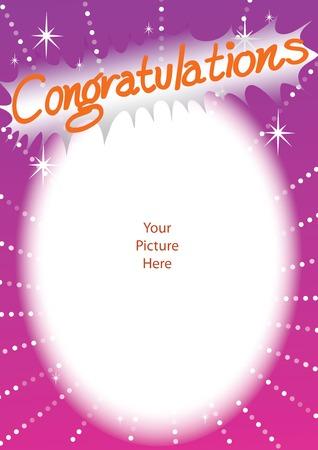 illustration congratulations frame card background