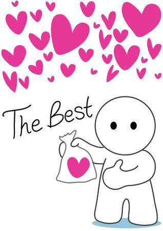 cartoon the best he have only one lover have more beautiful hart he should one in plastic bag keep it