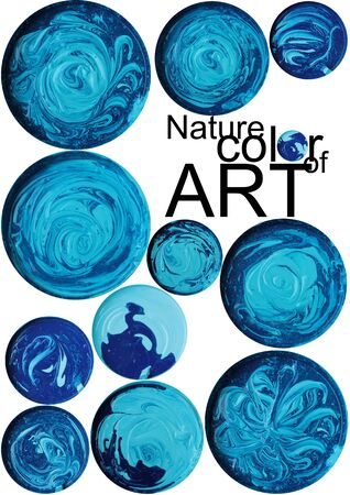 Art color design in basin made look like flower and world  map. photo
