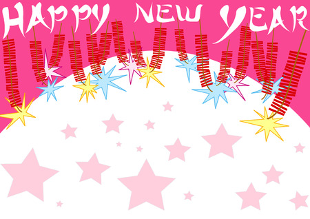 sound card: Happy new year background or card design for celebrate.