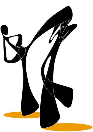 play acting: Shadow man taekwondo cartoon design sport symbol.