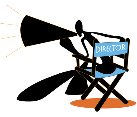 gimmick: Shadow man director be bawl or shout and sit on blue chair.