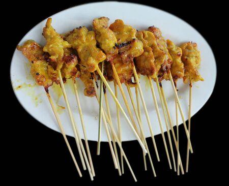 Curry pork roasted Asia food say Sa-Te. Stock Photo - 9539082