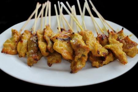 Curry pork roasted Asia food say Sa-Te. Stock Photo - 9540184
