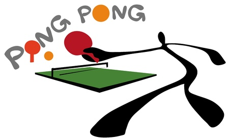 ping pong: juego de tenis de mesa de Shadow man.