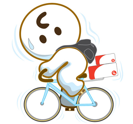 post man: Post man on bicycle