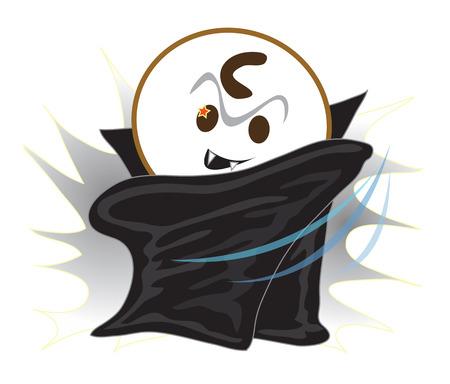bugaboo: Vampire cartone animato carino avere stella occhio e diavolo nero