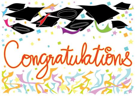 Graduation Congratulations graphic card design