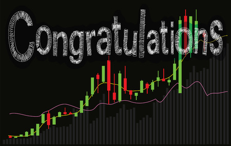 stockmarket: Congratulations  background is monitor statistic stock market graph share succession financial business