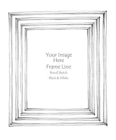 pencil sketch: Black and white pencil sketch line frame by hand from my  imagination .This image doesn