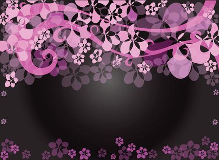 ova: Background picture frame flower pink background black Illustration