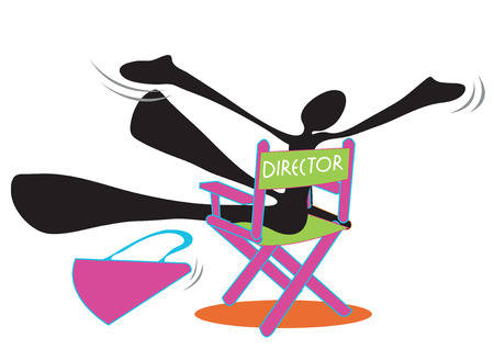 delight: Director expressed his delight Filming completed successful Shadow Man cartoon symbol design for sticker and advertisement background isolate