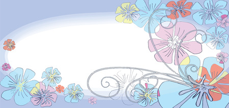 web site design: Flower background sweet color design for packaging, Web site banner paperwork plofile pattern