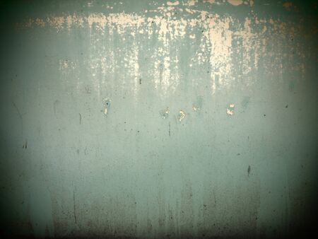color photography: Retro peeling wall background texture turquoise color photography