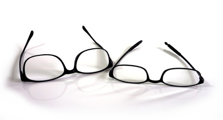 convex: Eyeglasses black plastic Convex lens for reading batter have two size