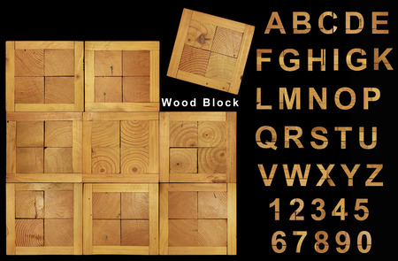 amalgamate: Wood block design use for your wood font pattern or background Stock Photo