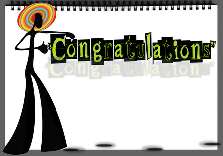 felicitate: Congratulations handmade graphic design feel you made it by your self for your best friend celebration or print card and banner sign advertisement