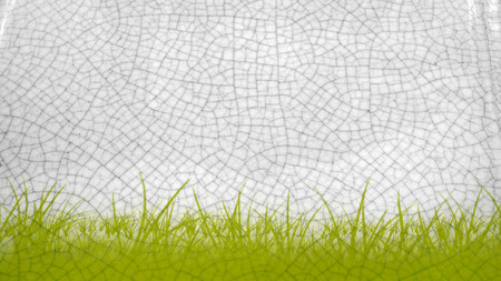 sanguine: This background is art pottery feud Antique gray scale and input the graphic design green sward  concept and texture from chair clay