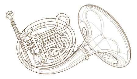 Cor des cuivres d'or isolé ordinateur design fond graphique pour symbole illustration