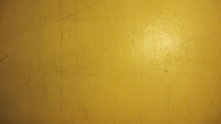 night time: Background wall old have water stains and yellow color from lamp lighting effect photo at night time