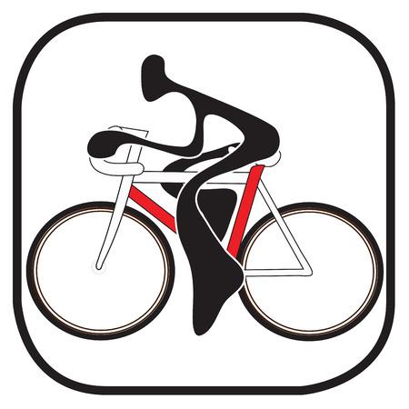 Shadow man riding bicycle cartoon design sport and symbol graphic design