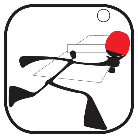acting: shadow man table tennis game cartoon acting symbol and graphic design shadow man theme. Illustration