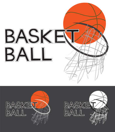 Basket Ball Sport Game Logo, sign, symbol graphic Design word i made it free form in computer. Small logo are design on dark background