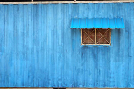 ductile: Staff house  container blue color facet tecnhic look like water color paint.